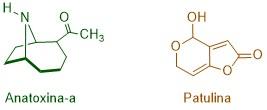 Biotoxinas: patulina y anatoxina-a